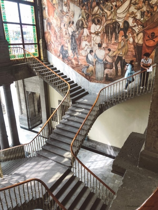 Chapultepec Castle stairway, Mexico City Guide