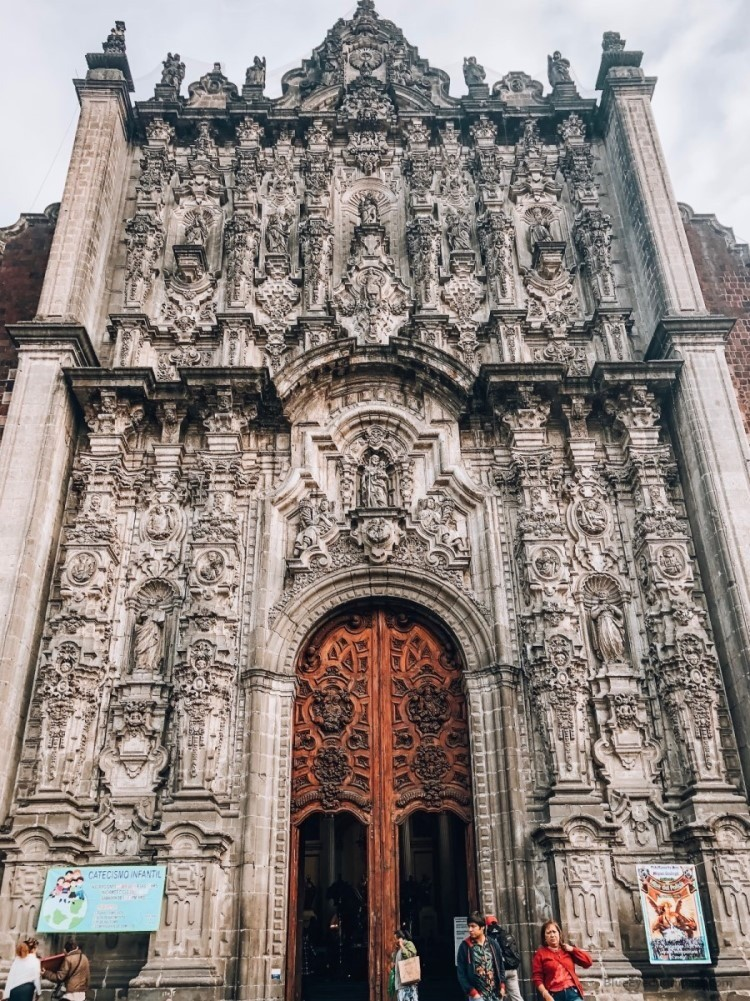 Metropolitan Cathedral entrance, Zocalo Mexico City Guide