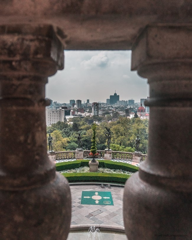 View from Chapultepec, Caslte Mexico City