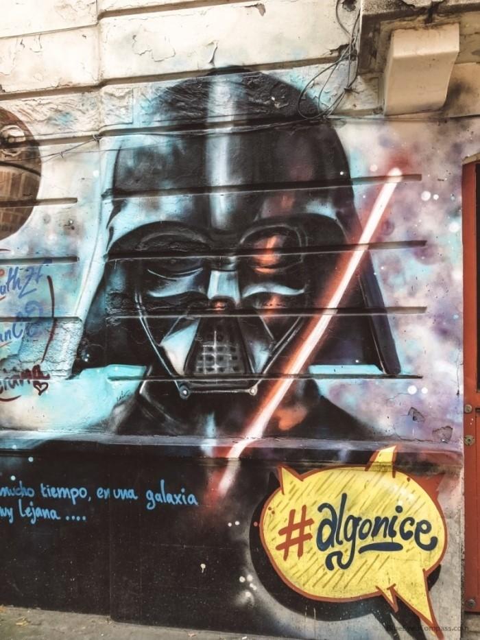 darth vader street art, in mexico city