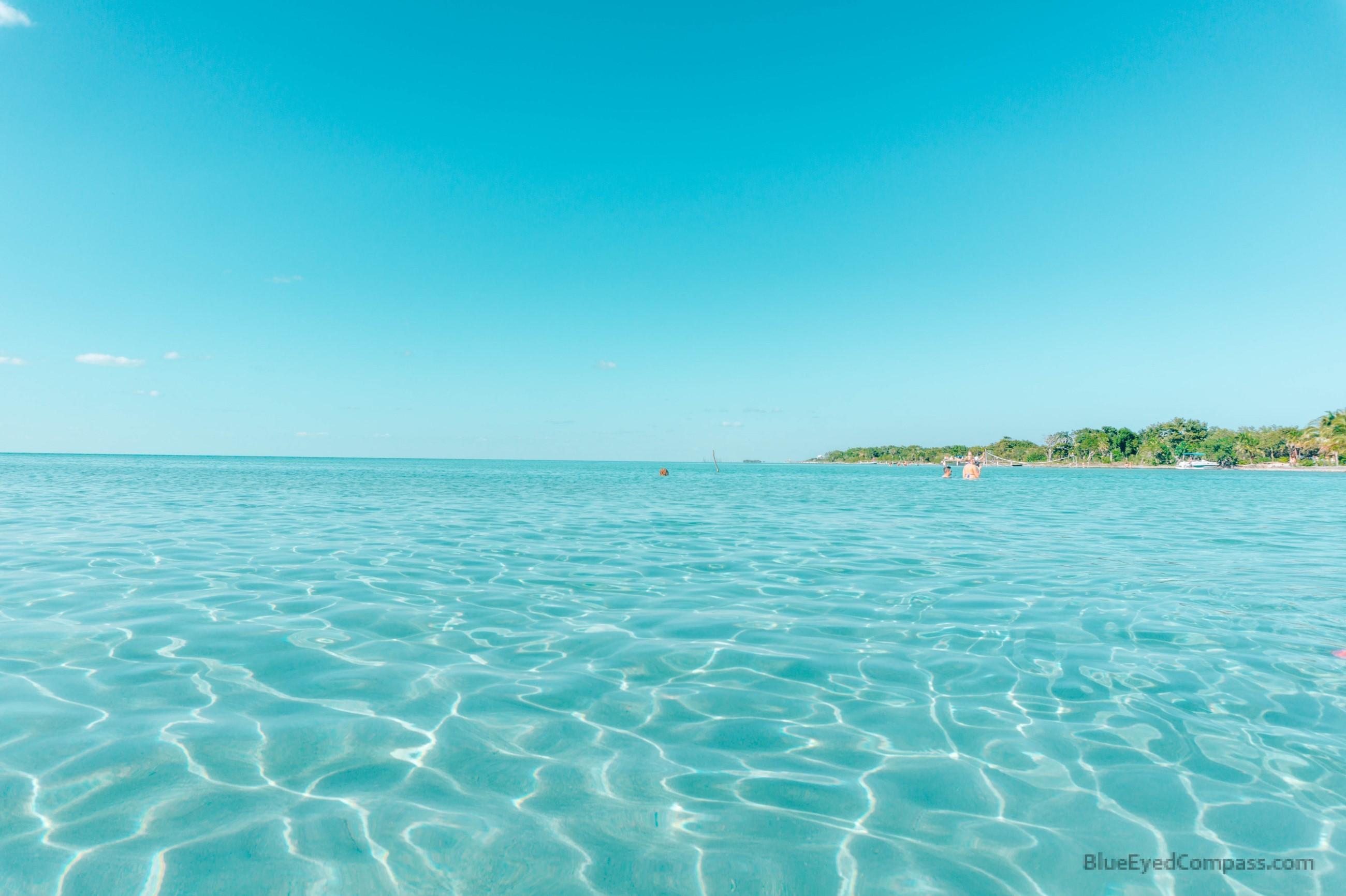 water at Secret Beach