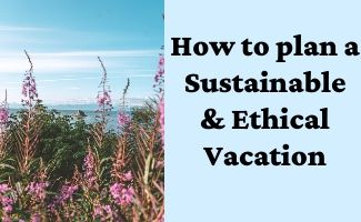 How to plan a Sustainable & Ethical Vacation
