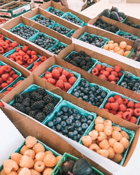 berries at a farmers market, top picnic spots in San Diego