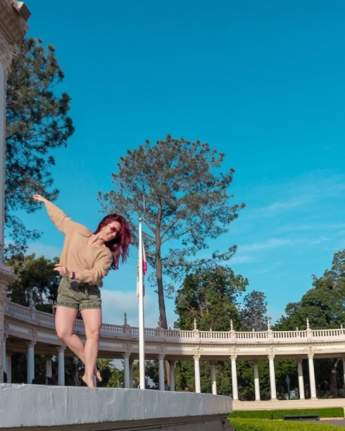girl dancing in Balboa Park, top picnic spots in San Diego